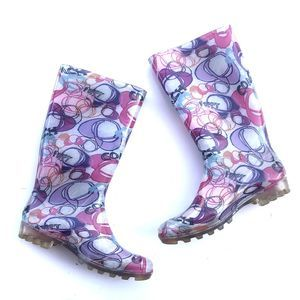 Coach Poppy Rubber Rainboots Size 10